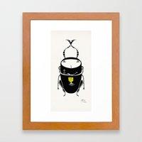 black cricket Framed Art Print