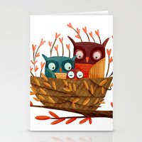 Owl Family Stationery Cards