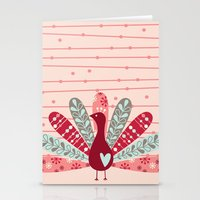 Garden Peacock Stationery Cards