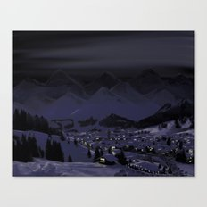 Night without stars Canvas Print