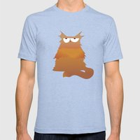 Cat Mens Fitted Tee Tri-Blue SMALL