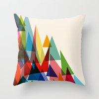 Mixed Shades Throw Pillow