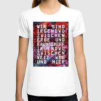 GLÜCK & BENZIN Womens Fitted Tee White SMALL