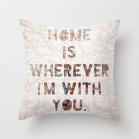 HOME (Ohio) Throw Pillow