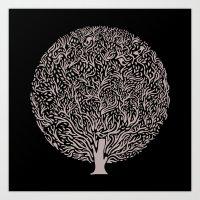 Black And White Tree Art Print