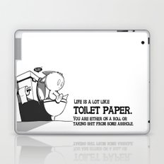 Life is a lot like toilet paper... Laptop & iPad Skin