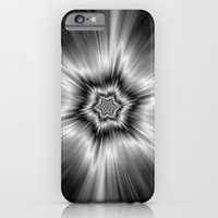 iPhone Cases featuring Black and White Star Burst by Objowl