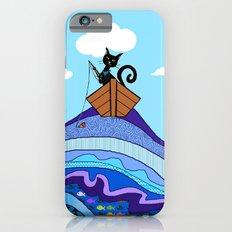 Cat  Fishing iPhone 6 Slim Case
