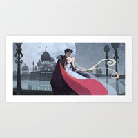 Moonlight Romance Art Print