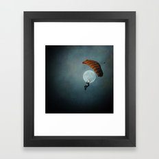 Skydiver's Moon Framed Art Print