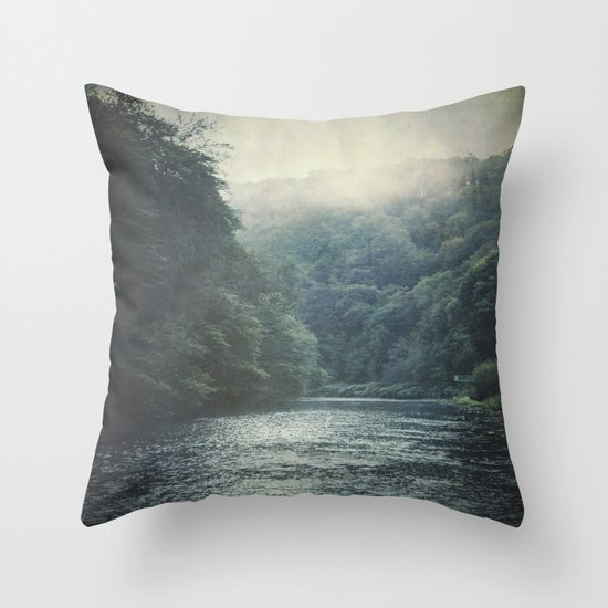 valley and river Throw Pillow