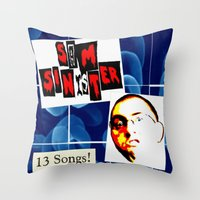 Sam Sinister - 13 Songs! (cover art) Throw Pillow