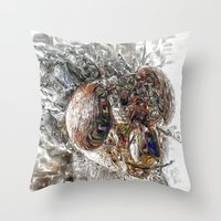 Musca Domestica aka The Fly . . .  An abstract Throw Pillow