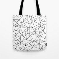 Abstract Outline Black O… Tote Bag