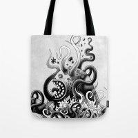 Dark Octoworm Tote Bag