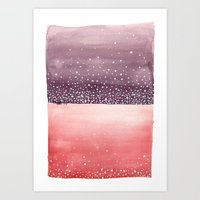 Red and Purple Abstract Art Print