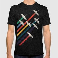 The Cranes Mens Fitted Tee Tri-Black SMALL