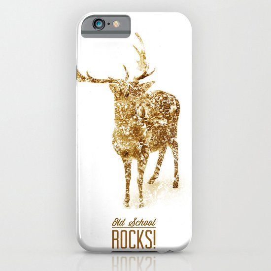 Old School Rocks! Gold Deer Version iPhone & iPod Case
