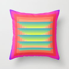 GradientGlitch v.4 Throw Pillow