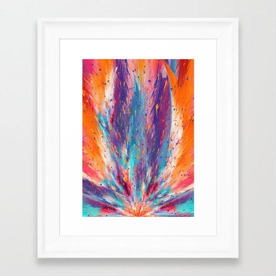 Colorful Fire Framed Art Print