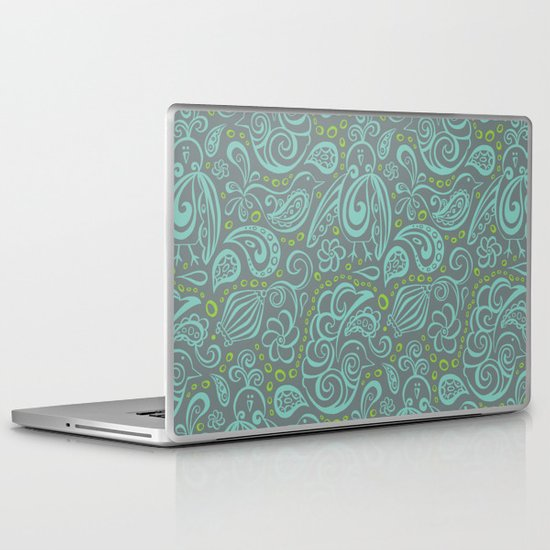 Festooned Feathered Friends Laptop & iPad Skin