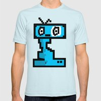Retro Mens Fitted Tee Light Blue SMALL