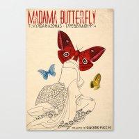 Madama Butterfly Canvas Print