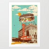 CHICAGO RED HOT Art Print