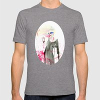 Here at the End Mens Fitted Tee Tri-Grey SMALL