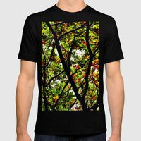 Leaves And Branches 2 Mens Fitted Tee Black SMALL
