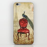 Peacock In Paris iPhone & iPod Skin