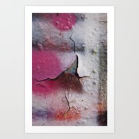 Pink Rumble Art Print