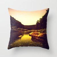 Let The Creek Take You A… Throw Pillow