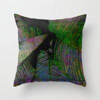 Dark Tropics Throw Pillow