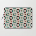 Abstract Pattern - Teal & Red Laptop Sleeve