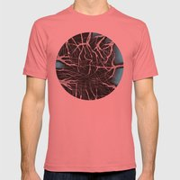SkyShadows Mens Fitted Tee Pomegranate SMALL