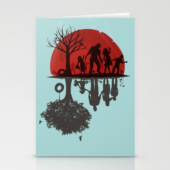 A Family Once Stationery Card