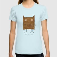 Together We Are Fierce Womens Fitted Tee Light Blue SMALL