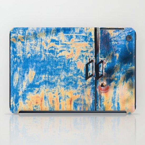Blue rusty door iPad Case