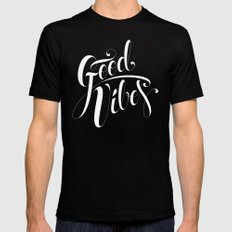 Good Vibes Mens Fitted Tee Black SMALL