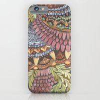 iPhone & iPod Case featuring Quilted Forest: The Owl by Jess Polanshek