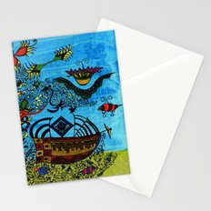 about angels and pirates Stationery Cards