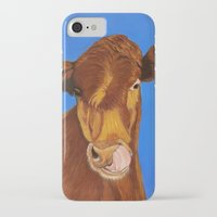 cow iPhone & iPod Cases featuring Cow by maggs326