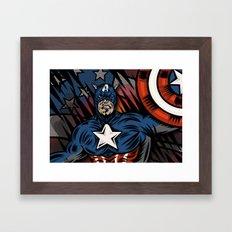 Captaino Americano Framed Art Print