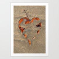 Love on the Beach Palolem Art Print