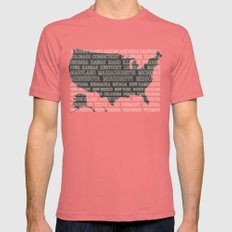 50 States of America Mens Fitted Tee Pomegranate SMALL