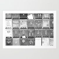 Mailboxes II Art Print