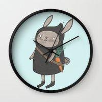 Ninja Bunny Wall Clock