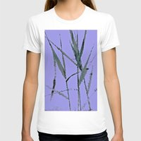 Water Reed Digital Art 3… Womens Fitted Tee White SMALL