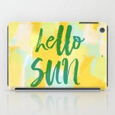Hello Sun - Sunny yellow abstract iPad Case